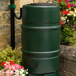 A green Harcostar water barrel
