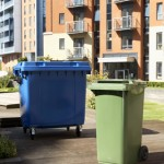 240 litre and 1100 litre Wheeled Bin in-situ