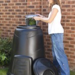 330 litre Black Compost Converter in use