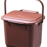 A five litre Solid Kitchen Caddy in brown