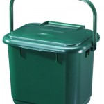 5 litre Solid Kitchen Caddy - Green