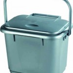 5 litre Solid Kitchen Caddy - Silver