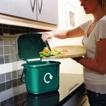 5 litre Solid Kitchen Caddy in use