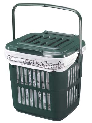 Vented Kitchen Caddy For Use With Compost A Bag