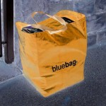 Inverted colours used on a box bag