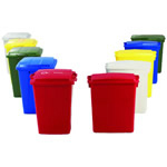 A range of coloured bins