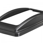 An open top lid frame lid in black
