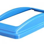 An open top lid frame lid in blue