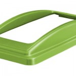 An open top lid frame lid in green