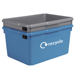 Two stackable kerbside boxes