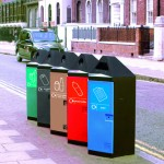 A range of Hexagonal bins in different colours