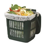 A vented Kitchen Caddy with internal liner