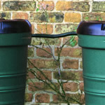 A linking kit joining two water butts