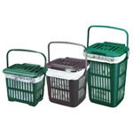 A range of vented kitchen caddy sizes