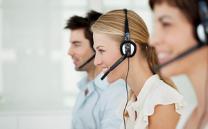 A picture of staff working in our in-house call centre