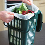 Compostable Liner in a 10 litre Vented Kitchen Caddy