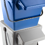 A blue EcoCaddy Plus stacked on a grey EcoCaddy Plus