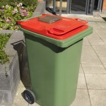 Food Waste Aperture on 240 litre Wheeled Container in situ