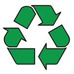 The recycled plastic logo
