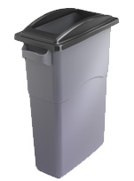 Black framed office recycling bin