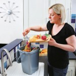 10 litre Solid Kitchen Caddy in use