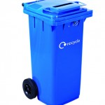 120 litre Wheeled Container with confidential lock & slot