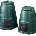 Two green compost converters