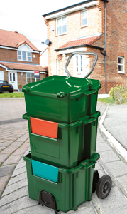 A 3BoxStack on the kirbside ready for collection