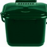 5 litre Solid Kitchen Caddy with Odour Control lid - green