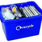 55 litre Grab Kerbside Box with 50/50 divider -plastics and paper