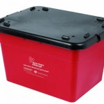 55 litre Grab Kerbside Box with windproof lid - red