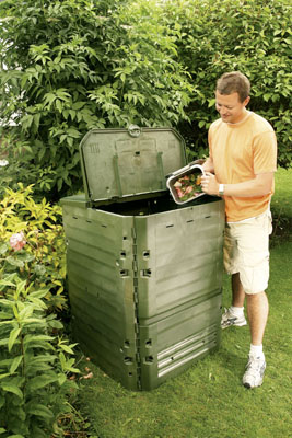 600 litre Thermo King in use - filling the composter