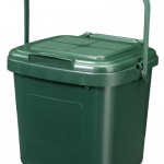 7 litre Solid Kitchen Caddy with Perforated lid