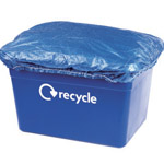 A waterproof plastic sheet covering the top of a kerbside box