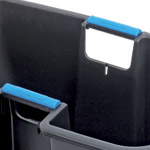 Two carry handles on the top of an inner caddy