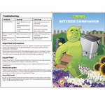 A colourful set of instructions for a compost converter