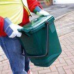 Kerbside Caddy being picked up for waste collection