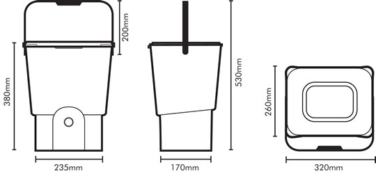 Kitchen composter specifications blueprint