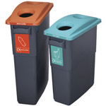 A small and large office bin next to each other