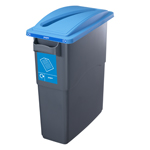 Office bin with lid designed for paper
