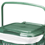 A vented kitchen caddy with a Perforated lid