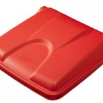 Step on lid - red