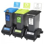 EcoSort® Trolley Bank with Signage
