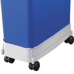 A white trolley under a colour coded bin