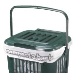 A vented lid on top of a kitchen caddy