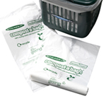 100% compostable liners in special post-friendly packs for all our kitchen caddies