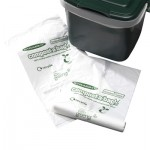 7 litre Solid Kitchen Caddy and Roll of Liners