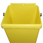 A yellow 40 litre EcoCaddy with its lid open